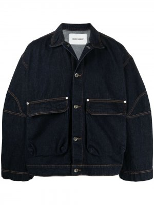 Джинсовая куртка оверсайз со вставками HENRIK VIBSKOV. Цвет: синий