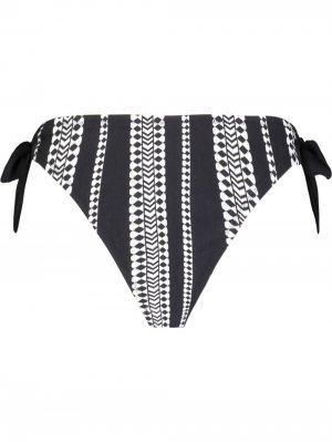Плавки бикини с геометричным принтом lemlem. Цвет: черный