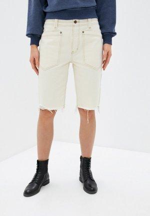 Шорты джинсовые Free People. Цвет: бежевый