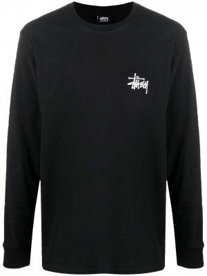 Толстовка с логотипом Stussy. Цвет: черный