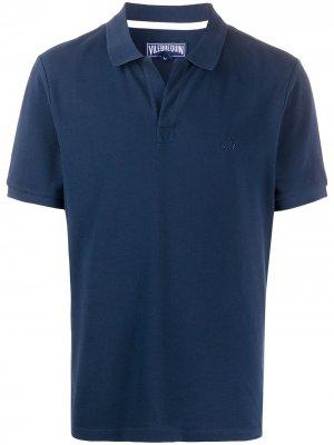 Рубашка поло с короткими рукавами Vilebrequin. Цвет: синий