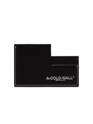 Визитница с логотипом A-COLD-WALL*. Цвет: черный