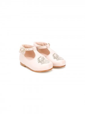 Туфли с пряжкой и логотипом Chloé Kids. Цвет: розовый