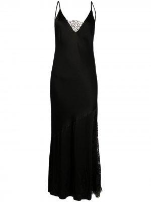 Платье-комбинация на бретелях Gold Hawk. Цвет: черный