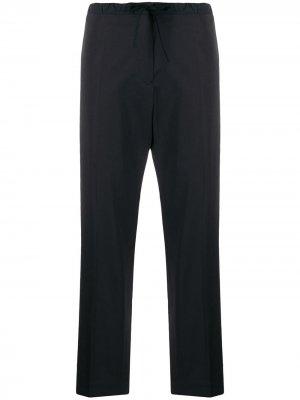 Укороченные брюки с кулиской Jil Sander. Цвет: синий