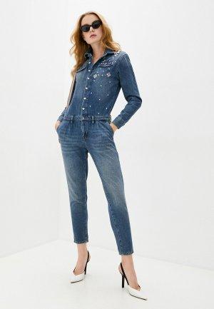Комбинезон джинсовый Liu Jo. Цвет: синий