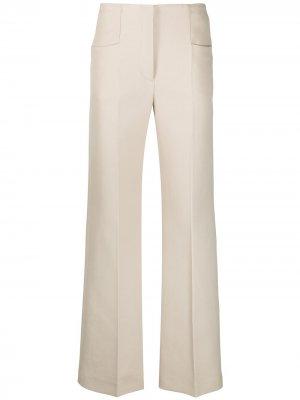 Расклешенные брюки с завышенной талией Joseph. Цвет: нейтральные цвета