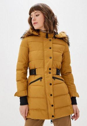 Куртка утепленная Jayloucy. Цвет: желтый