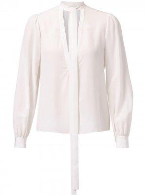 Блузка с завязками на воротнике Jason Wu Collection. Цвет: белый