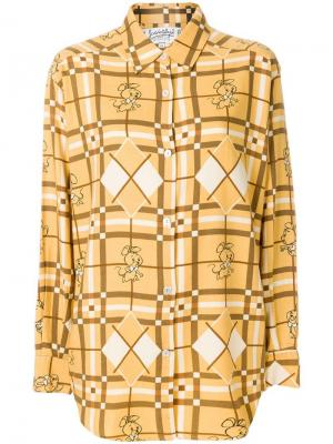 Рубашка с принтом Jc De Castelbajac Vintage. Цвет: коричневый