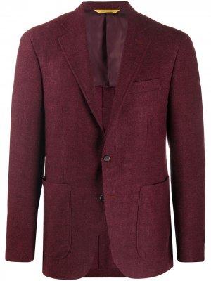 Фактурный пиджак Canali. Цвет: красный