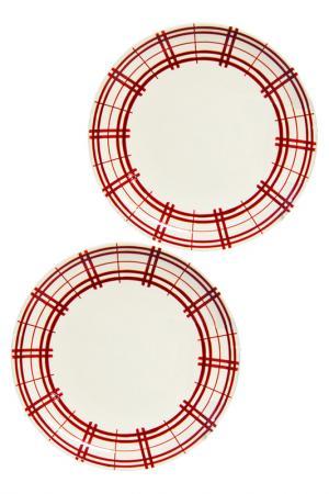 Набор тарелок, 2шт UNION. Цвет: белый