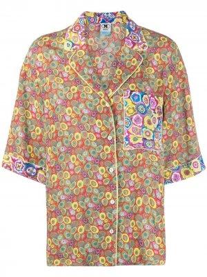 Рубашка с нагрудным карманом и цветочным принтом M Missoni. Цвет: зеленый