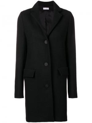 Однобортное пальто Paco Rabanne. Цвет: черный