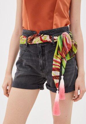 Шорты джинсовые Guess Jeans. Цвет: черный