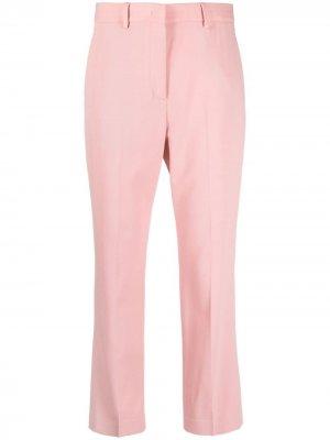 Укороченные брюки кроя слим PAUL SMITH. Цвет: розовый