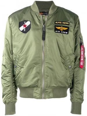 Loose bomber jacket Alpha Industries. Цвет: зеленый