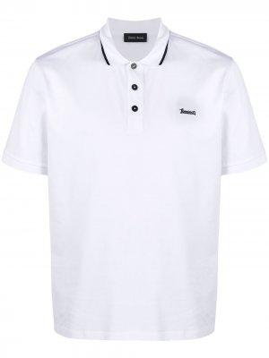 Рубашка поло с короткими рукавами Herno. Цвет: белый