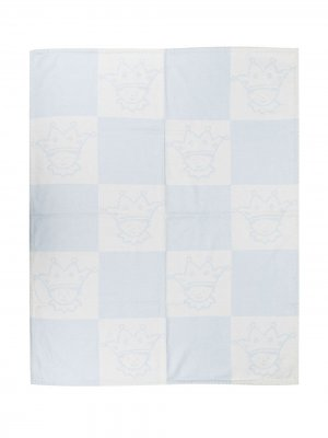 Одеяло в клетку Marie-Chantal. Цвет: синий