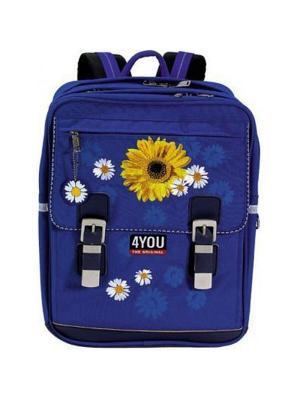 Рюкзак 4YOU SUPERSIZE РОМАШКИ. Цвет: синий
