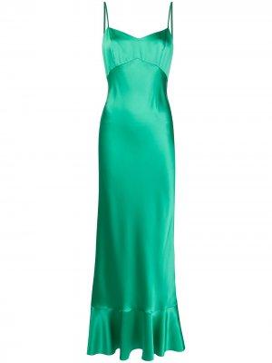 Платье Mimi Saloni. Цвет: зеленый