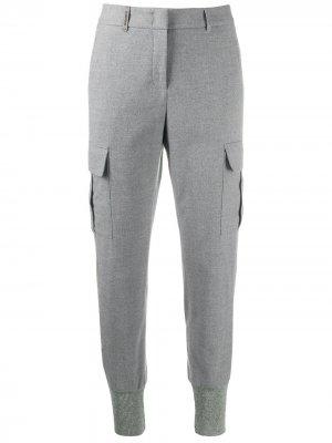 Спортивные брюки строгого кроя Peserico. Цвет: серый