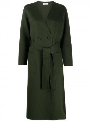 Пальто миди с поясом Ulla Johnson. Цвет: зеленый