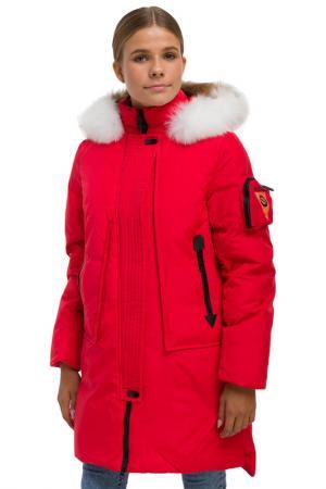 Пальто ANERNUO. Цвет: красный