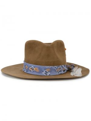 Шляпа с банданой Bandito Nick Fouquet. Цвет: коричневый