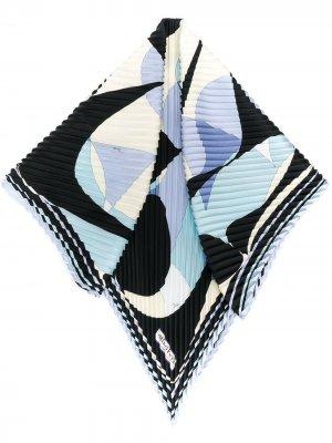 Плиссированный платок Alex с принтом Emilio Pucci. Цвет: синий