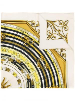 Шарф с принтом Hermès Vintage. Цвет: нейтральные цвета