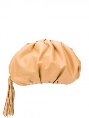 Клатч с кисточкой Rebecca Minkoff. Цвет: коричневый