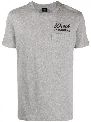 Футболка с короткими рукавами и логотипом Deus Ex Machina. Цвет: серый