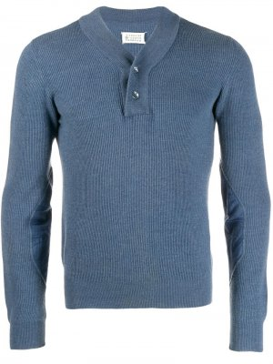 Пуловер в рубчик Maison Martin Margiela Pre-Owned. Цвет: синий