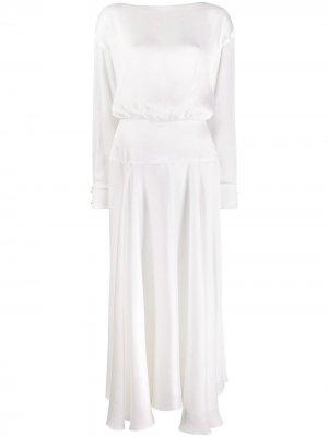 Коктейльное платье Majorelle Galvan. Цвет: белый