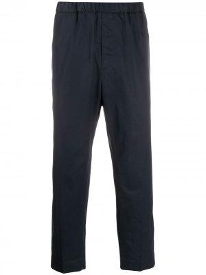 Укороченные зауженные брюки Jil Sander. Цвет: синий