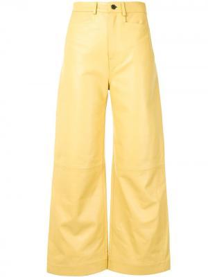 Расклешенные брюки Proenza Schouler White Label. Цвет: желтый
