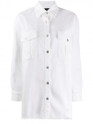 Джинсовая рубашка Lisa 3x1. Цвет: белый