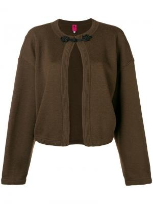 Куртка с застежкой на воротнике Emanuel Ungaro Pre-Owned. Цвет: коричневый