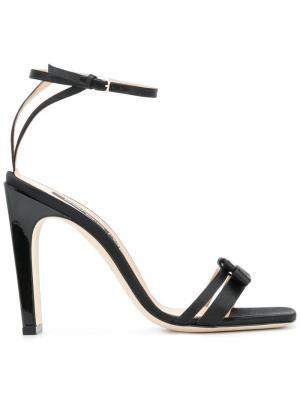 Босоножки с ремешком на щиколотке высоком каблуке Sergio Rossi. Цвет: черный