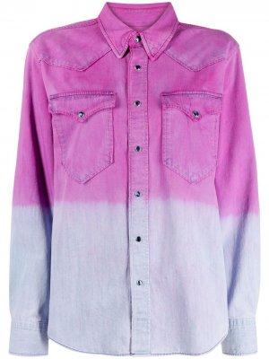 Рубашка Pitti Western с эффектом деграде Isabel Marant Étoile. Цвет: фиолетовый