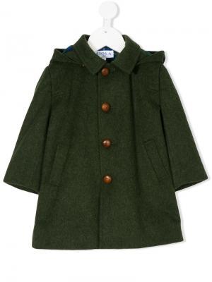Пальто с широкими рукавами Siola. Цвет: зеленый
