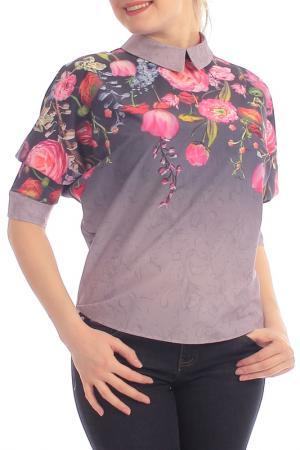 Блузка Lamiavita. Цвет: фиолетовый