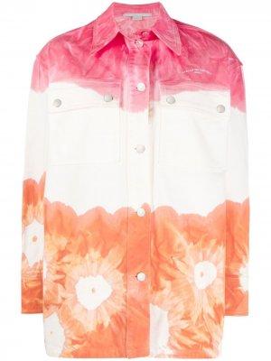Джинсовая куртка с принтом тай-дай Stella McCartney. Цвет: оранжевый