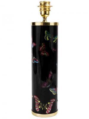 Основание для лампы с принтом бабочек Fornasetti. Цвет: черный