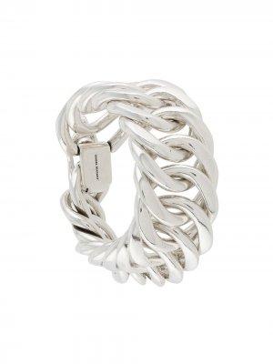 Массивный цепочный браслет Isabel Marant. Цвет: серебристый