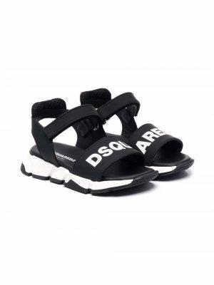 Logo-print chunky sole sandals Dsquared2 Kids. Цвет: черный