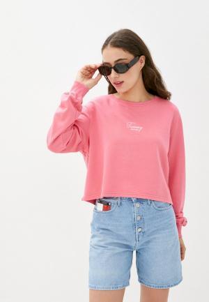 Свитшот Tommy Jeans. Цвет: розовый
