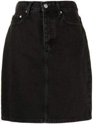 Джинсовая юбка Lou с завышенной талией Nobody Denim. Цвет: синий