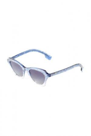 Очки солнцезащитные BURBERRY. Цвет: top glitter on gradient blue